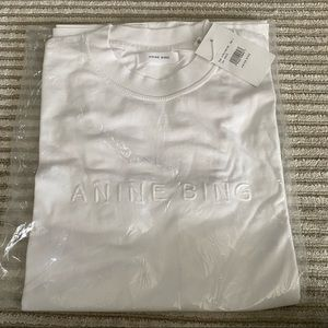 ANINE BING White Lili T Shirt Size S